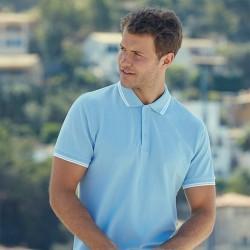 Риза поло пике с цветни ленти