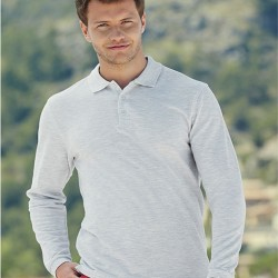 риза поло пике с дълъг ръкав